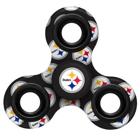 Steelers NFL Multi Logo 3 Way Fidget Spinner - Fan Shop TODAY