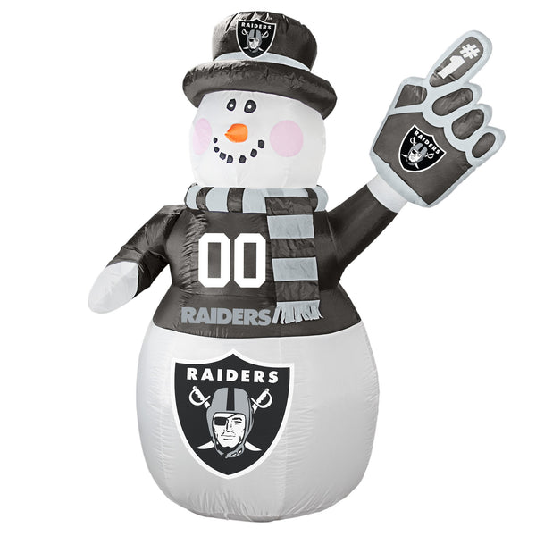 Oakland Raiders NFL Inflatable Snowman 7' - Fan Shop TODAY
