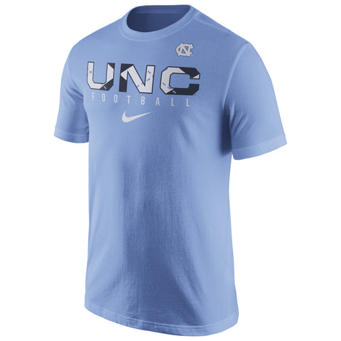 UNC Tar Heels NCAA Nike Light Blue Football Practice T-Shirt - Fan Shop TODAY