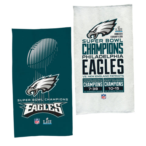 Philadelphia Eagles Super Bowl LII Champions Locker Room On-Field Towel - Fan Shop TODAY