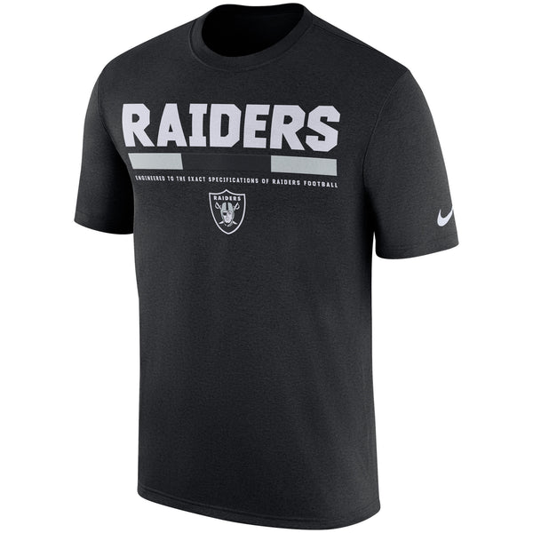 Oakland Raiders Nike Sideline 2017 Legend Staff Performance T-Shirt - Fan Shop TODAY