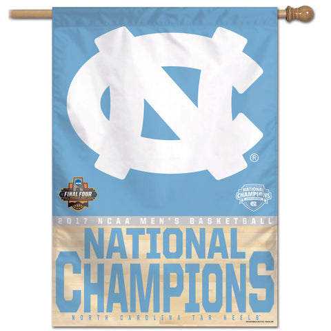"UNC Tar Heels 2017 NCAA Men's Basketball National Champions 28"" x 40"" Banner - Fan Shop TODAY"