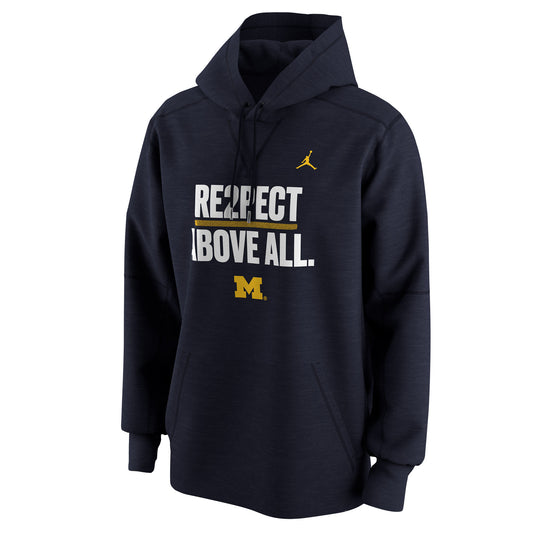 Michigan Wolverines 'Re2spect Above All' Jordan Men's Pullover Hoodie - Fan Shop TODAY