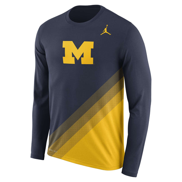 Michigan Wolverines Jordan 2017 NCAA Men's Legend Sideline Long Sleeve T-Shirt - Fan Shop TODAY