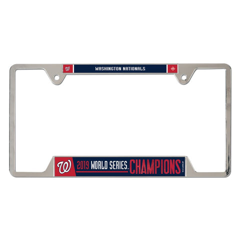 Washington Nationals World Series Champions License Plate Frame - Fan Shop TODAY
