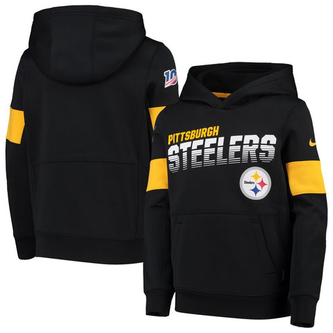 Pittsburgh Steelers Nike Sideline Team Logo Performance Pullover Hoodie - Fan Shop TODAY