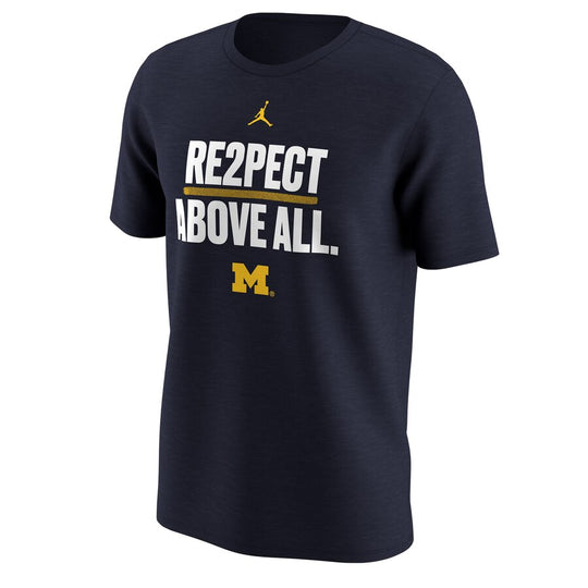 Michigan Wolverines Jordan Re2pect Above All T-Shirt - Fan Shop TODAY