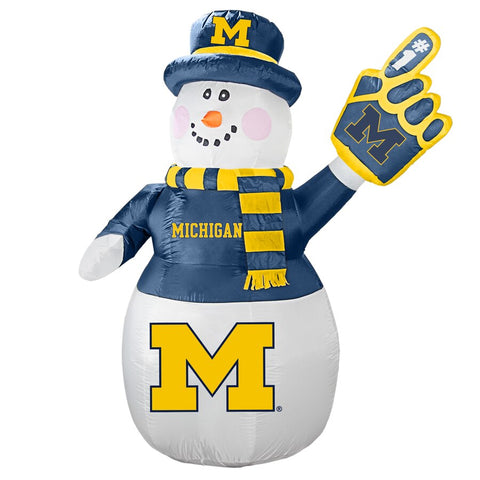 Michigan Wolverines NCAA Inflatable Snowman 7' - Fan Shop TODAY