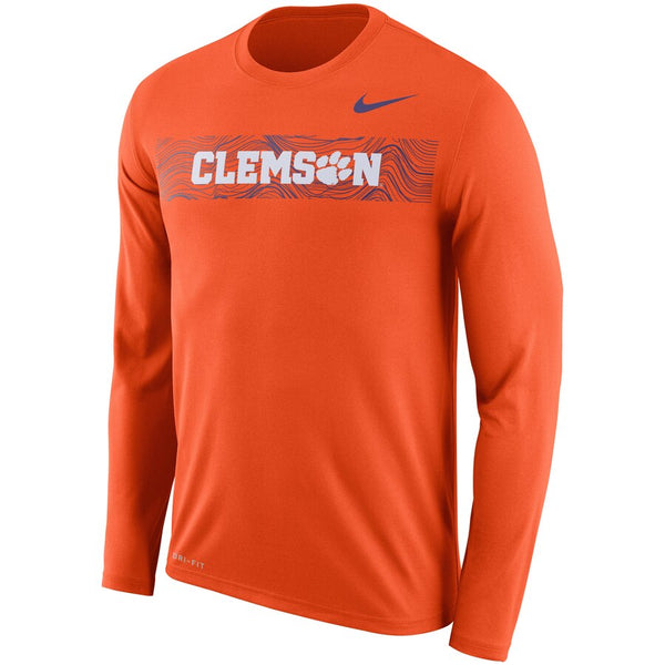 Clemson Tigers Nike 2018 Sideline Seismic Performance Legend Long Sleeve T-Shirt - Fan Shop TODAY