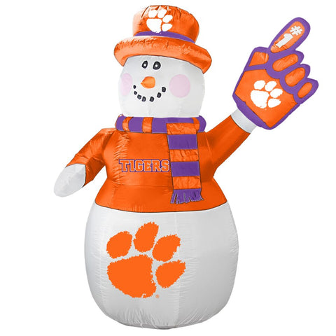 Clemson Tigers NCAA Inflatable Snowman 7' - Fan Shop TODAY