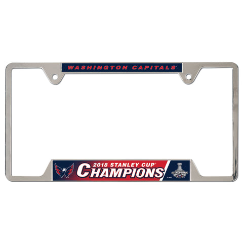 Washington Capitals 2018 NHL Stanley CUP Champions chrome License Plate frame - Fan Shop TODAY
