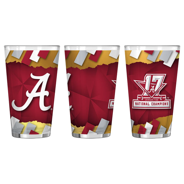 Alabama Crimson Tide College Football Playoff 2017 National Champions 16oz. Pint Glass - Fan Shop TODAY