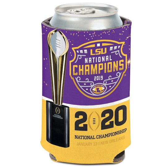 LSU Tigers 2019 National Champions Can Cooler - Fan Shop TODAY