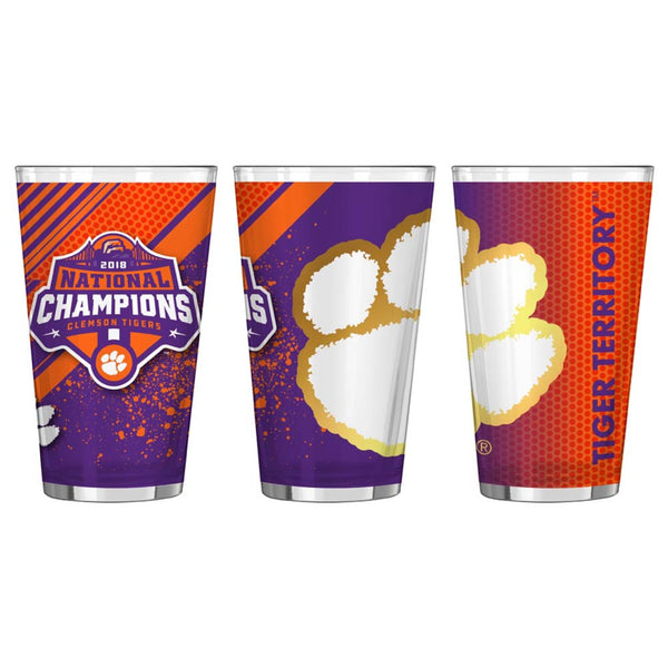 Clemson Tigers 2018 National Champions 16oz. Sublimated Pint Glass - Fan Shop TODAY