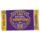 LSU Tigers 2019 National Champions Locker Room Towel - Fan Shop TODAY
