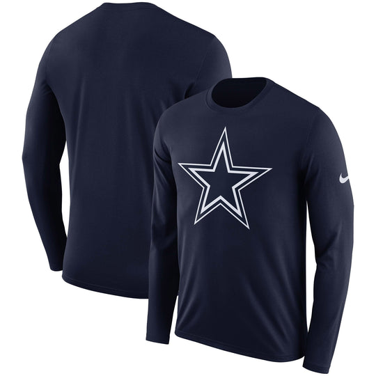 Dallas Cowboys Nike Dri-FIT Cotton Logo Long Sleeve Shirt - Fan Shop TODAY