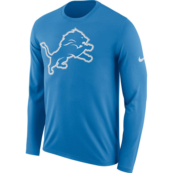 Detroit Lions Nike Primary Logo Long Sleeve Performance T-Shirt - Fan Shop TODAY