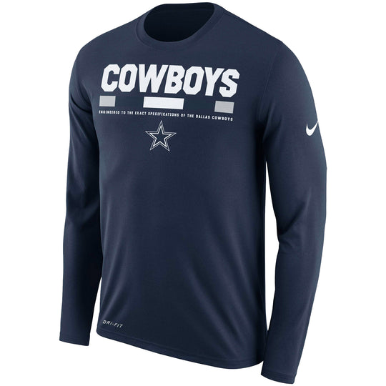 Dallas Cowboys Nike Sideline Legend Staff Performance Long Sleeve T-Shirt - Fan Shop TODAY