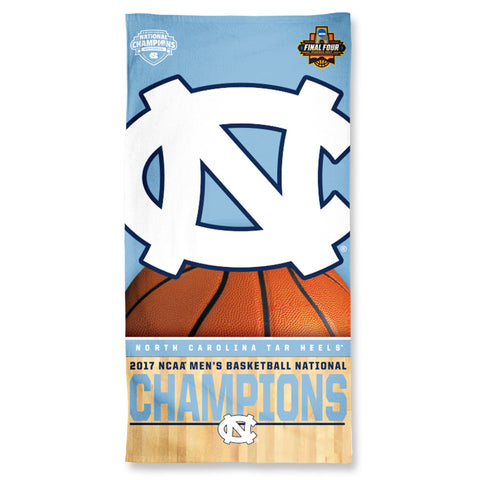"UNC Tar Heels 2017 NCAA Men's Basketball National Champions 30"" x 60"" Spectra Beach Towel - Fan Shop TODAY"