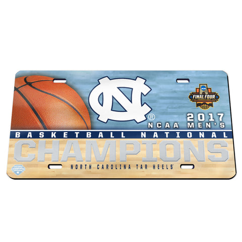 UNC 2017 NCAA National Champions Crystal Mirror License Plate NEW! - Fan Shop TODAY
