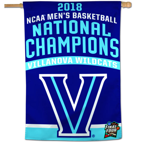 "Villanova Wildcats 2018 NCAA Men's Basketball National Champions 28"" x 40"" Banner - Fan Shop TODAY"