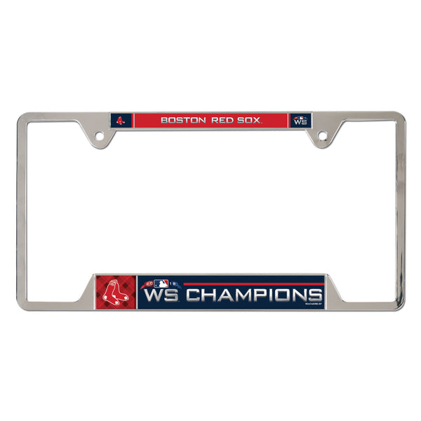 Boston Red Sox 2018 World Series Champions License Plate Frame - Fan Shop TODAY