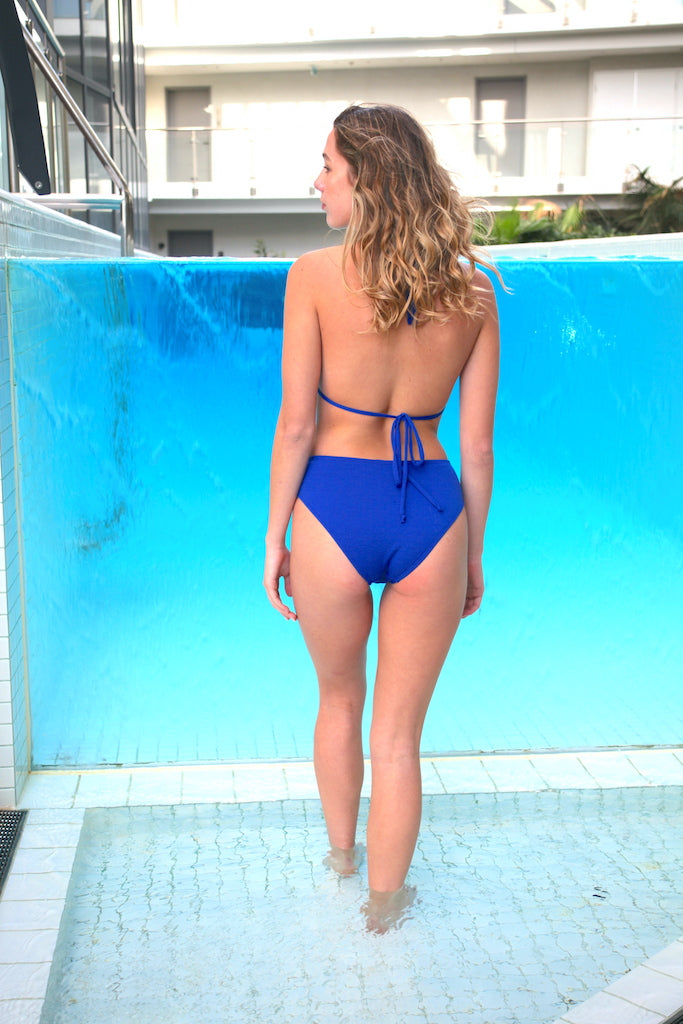 Tilly Mid Waist Bottoms Cobalt - swimm