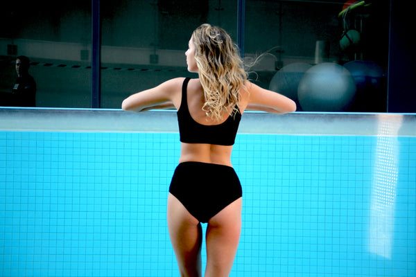 Juna High Waist  Bottoms Black - swimm