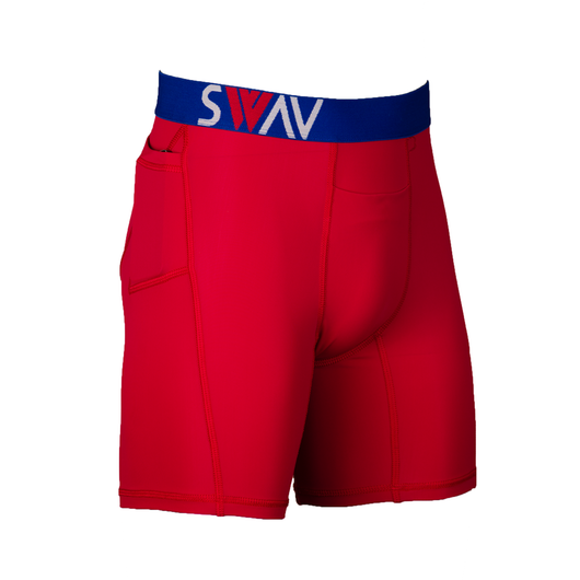 Performance Hybrid | Compression Short | Red