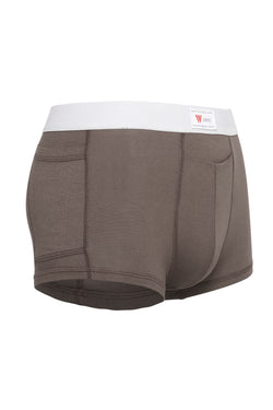 luxury mens underwear with pocket grey modal brief white soft waistband