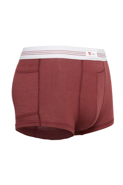 luxury mens underwear with pocket swav oxblood red modal briefs white soft waistband