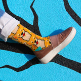 BARX SOX Yellow Shiba Inu Socks with Shoes