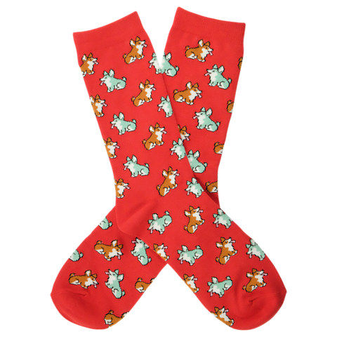 BARX SOX Red Corgi Socks - Main Image