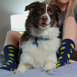 BARX SOX Navy Blue Dachshund Socks - Cute Dog