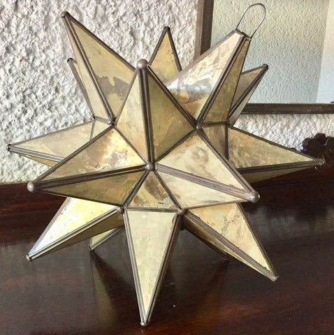 "18"" Old glass style star"