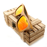 Colorful Polarized Handmade Bamboo Unisex Sunglasses