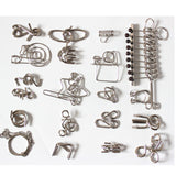 Wire Puzzles Set with 20 pcs