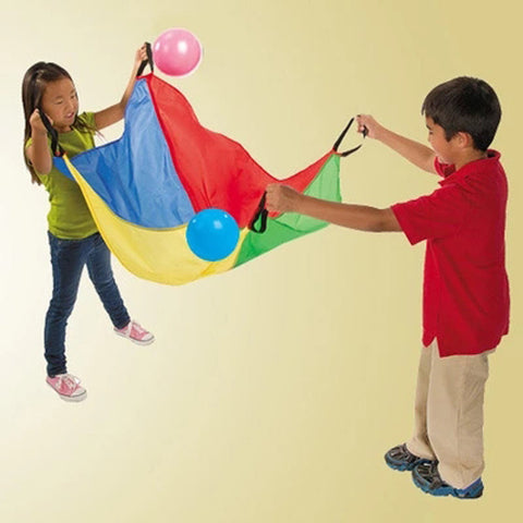 Teamwork Throwing And Catching Umbrella Game