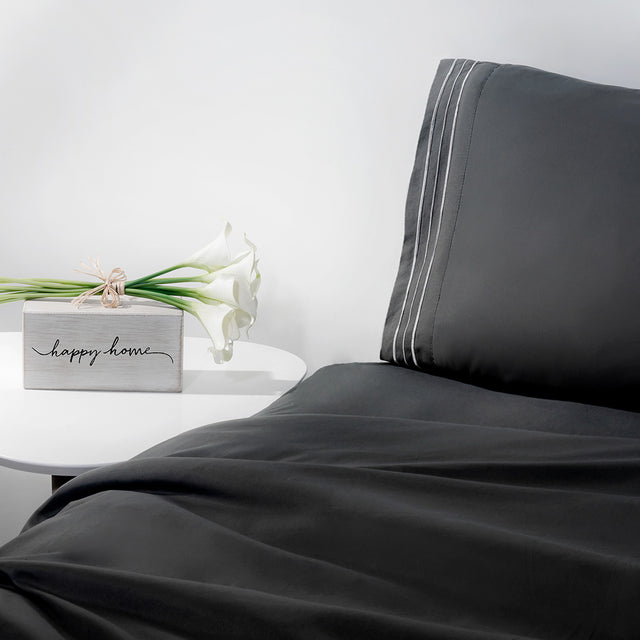 1800 Thread Count, Ultra Comfort, Graphite Sheet Set