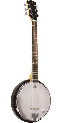 Gold Tone AC-6+/L Left-Handed Acoustic Composite 6-String Banjo Guitar with Gig Bag , Folk, Gold Tone, Texas Guitar Ranch - Texas Guitar Ranch
