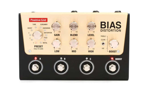 Bias Distortion Tone Match Distortion Pedal , Pedals, Positive Grid, Texas Guitar Ranch - Texas Guitar Ranch