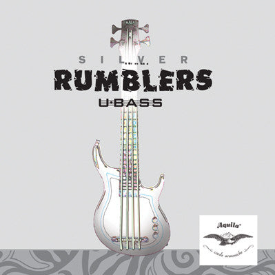 4-String Aquila Silver Rumbler U-Bass Strings , Strings, Aquila, Texas Guitar Ranch - Texas Guitar Ranch