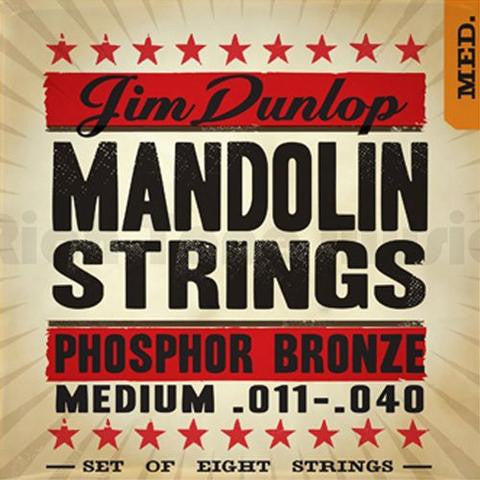 Dunlop Mandolin Strings, Phosphor Bronze Medium , Strings, Dunlop, Texas Guitar Ranch - Texas Guitar Ranch