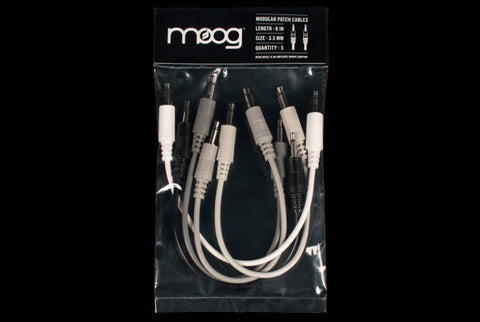 MOOG Modular Patch Cables 6 in. 3.5 mm, set of 5