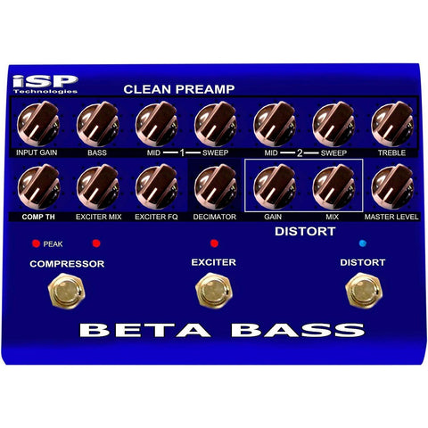 ISP Technologies Beta PreAmp Bass Effects Pedal , Pedals, ISP, Texas Guitar Ranch - Texas Guitar Ranch