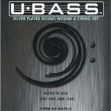 U-BASS Silver Plated Round Wound Bass Strings , Strings, Kala, Texas Guitar Ranch - Texas Guitar Ranch