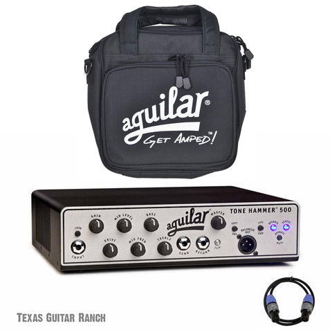 Aguilar Tone Hammer 500 TH500 Bass Amplifier with Gig Bag & Speakon