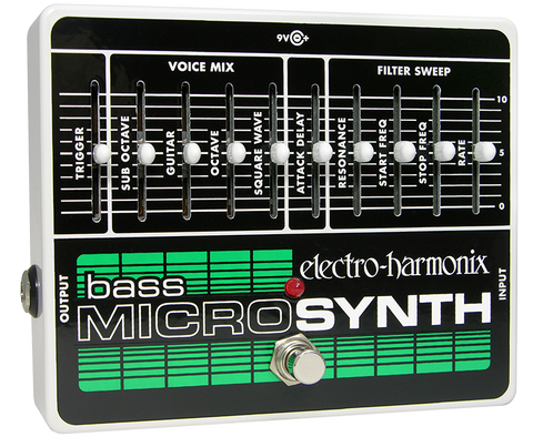 Electro-Harmonix Bass Microsynth Micro Synth Synthesizer Bass Guitar Effects Pedal , Pedals, Electro-Harmonix, Texas Guitar Ranch - Texas Guitar Ranch