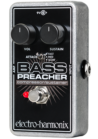 Electro-Harmonix Bass Preacher Compressor Sustainer Bass Guitar Effects Pedal , Pedals, Electro-Harmonix, Texas Guitar Ranch - Texas Guitar Ranch