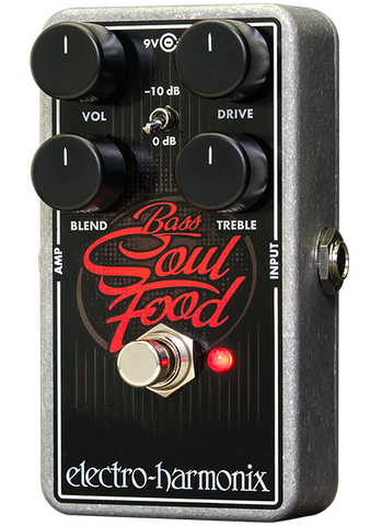 Electro-Harmonix Bass Soul Food Overdrive Bass Guitar Effects Pedal